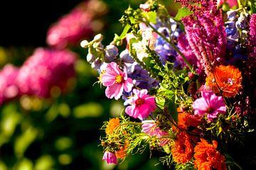 Blumenstrauss mit Sommerblumen von Ivonne Wierink