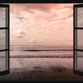 Vue sur l'Escaut occidental (depuis la fenêtre) sur Fotografie Jeronimo