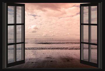Uitzicht op de Westerschelde (vanuit het raam)