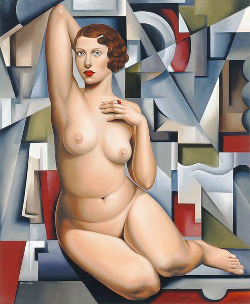 Seated Cubist Nude van Catherine Abel