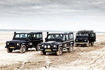 Land Rover am Strand von Terschelling von Evert Jan Luchies