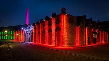 Beleuchtete Außenwandweberei Museum Geldrop von Noud de Greef