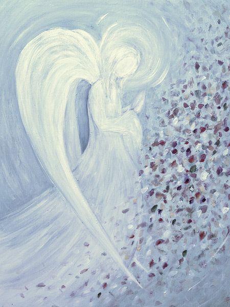 Engel beeld - blauwe Engel van Christine Nöhmeier