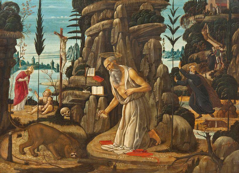 Der reuige St. Jerome, Jacopo da Sellaio von Meesterlijcke Meesters