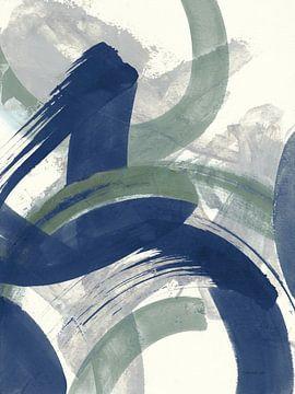 Navy Brushy Abstract II, Danhui Nai van Wild Apple