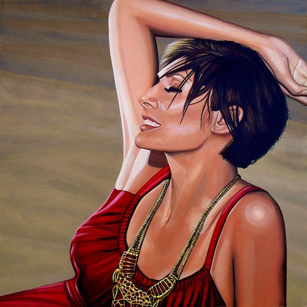 Natalie Imbruglia schilderij van Paul Meijering