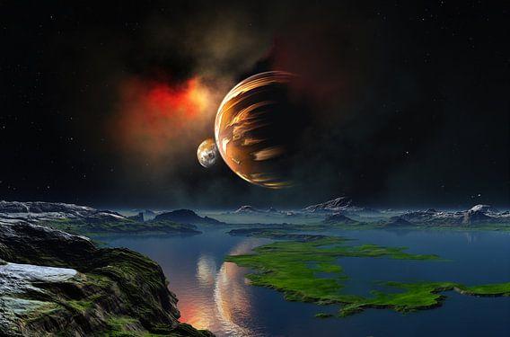 planet_moon & sun van Dirk Driesen