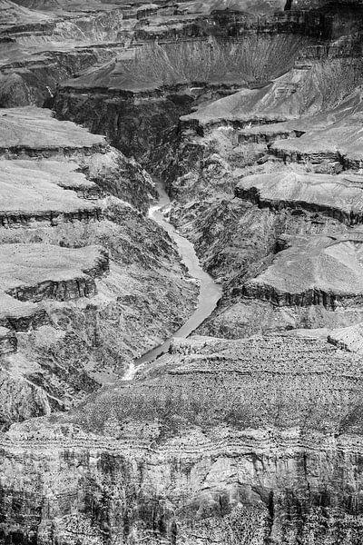 Colorado Rivier door de Grand Canyon van Loek van de Loo