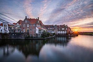 Sonnenaufgang in Enkhuizen von Dick Portegies