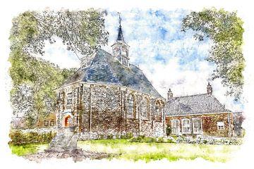 Hervormde Kerk in Sint Philipsland (Zeeland) van Art by Jeronimo