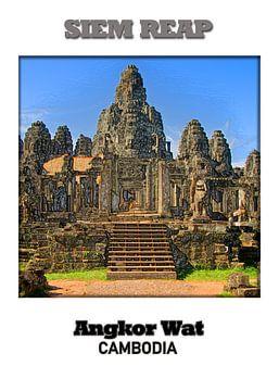 Siem Reap & Angkor Wat van Printed Artings