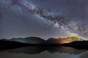 Melkweg boven de Barmsee van Dennis Eckert