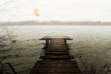 Gerüste mit Nebel von Henk Elshout