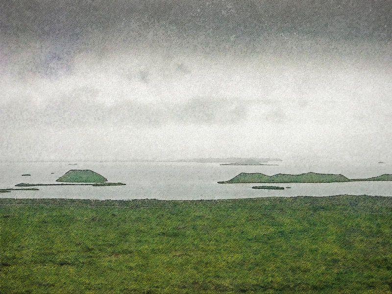 De pseudokraters van Myvatn, IJsland van Frans Blok