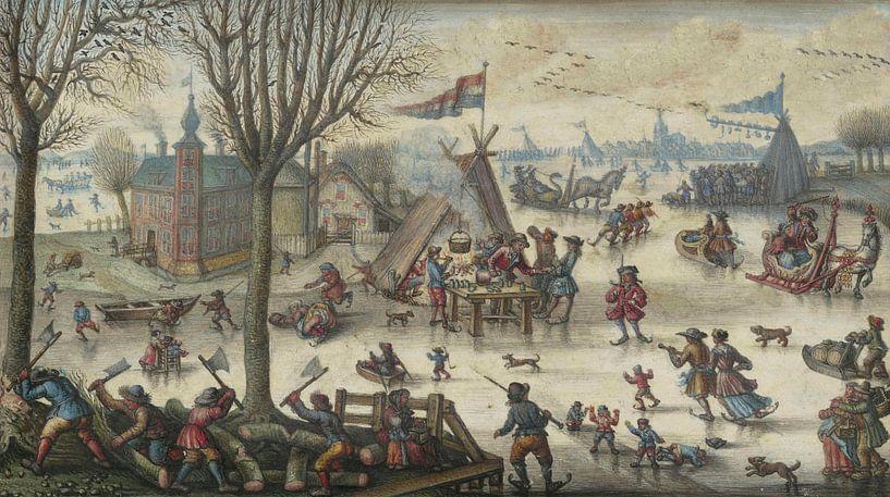 Winterlandschaft mit Figuren, Jan Berents von Meesterlijcke Meesters