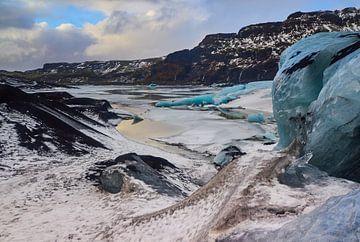 Sólheimajökull gletsjer van Henk Goossens