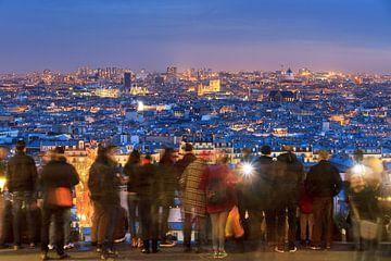 Uitzicht over Parijs in de avond