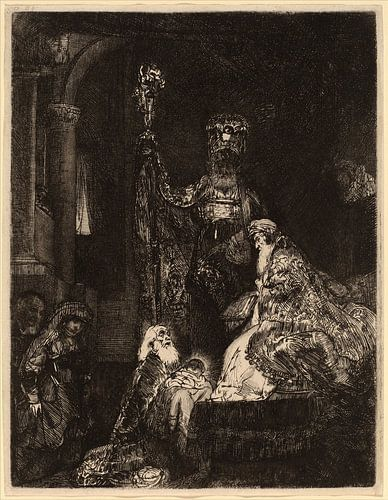 Rembrandt van Rijn Die Darstellung im Tempel in der Dunkelheit von Rembrandt van Rijn