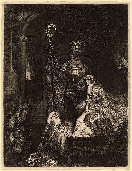 Rembrandt van Rijn , De presentatie in de tempel van Rembrandt van Rijn