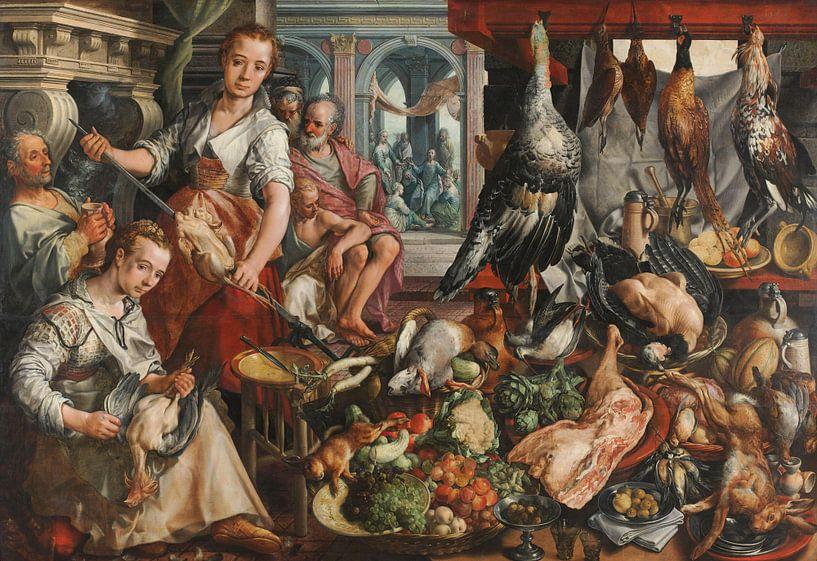 Joachim Bueckelaer, De welvoorziene keuken van Meesterlijcke Meesters