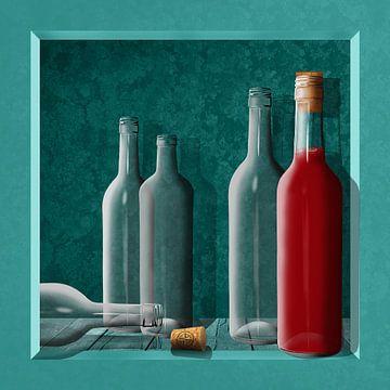 Juice flessen in het krat van Monika Jüngling