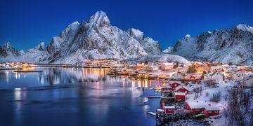 Winterlandschaft den Lofoten in Norwegen. von Voss Fine Art Fotografie