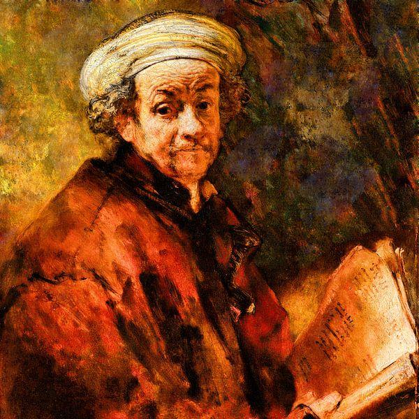 Zelfportret Rembrandt van Rijn van Theo van der Genugten
