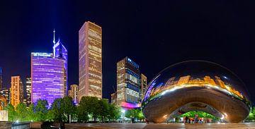Chicago, Millenium Park in de avond van Atelier Liesjes
