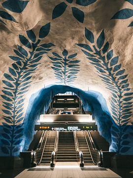 U-Bahn-Architektur am Hauptbahnhof T-Centralen Stockholm, Schweden von Michiel Dros