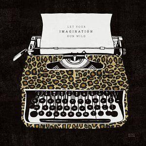 Machine à écrire une jungle analogique, Michael Mullan sur Wild Apple