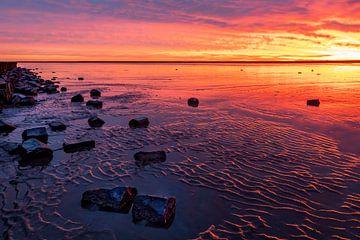 Farbenpracht über dem Wattenmeer von Anja Brouwer Fotografie