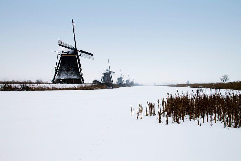 Winter in Kinderdijk van Sander Monster