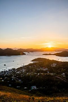 Coucher de soleil à Coron (Philippines) sur Yvette Baur