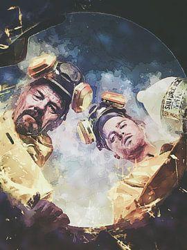Breaking Bad Walter White & Jesse Pinkman Ölfass von Art By Dominic