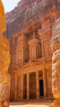 The Treasury in Petra (Jordanië) van Jessica Lokker