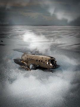Neergestort vliegtuig in IJsland van Roos Maryne - Natuur fotografie