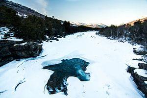 Winterlandschap in Noorwegen van Dayenne van Peperstraten