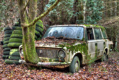 HDR Lost in the Woods Lada 1300 van