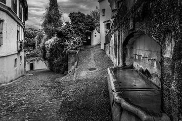 Waterplaats in een achterafstraat in Ronda van Rene Siebring