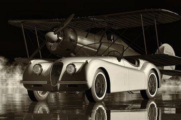De Jaguar XK 120 uit 1954