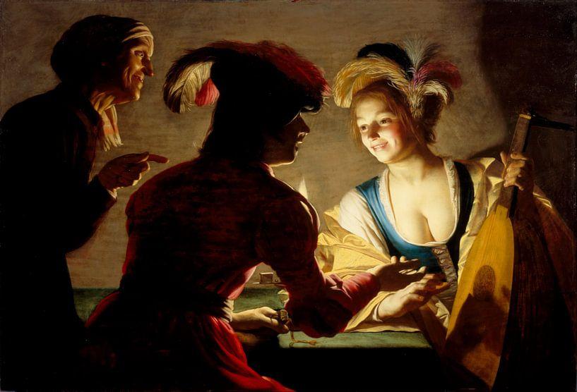 Gerard van Honthorst. De koppelaarster van 1000 Schilderijen