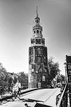 Innere Stadt von Amsterdam Niederlande Schwarz und Weiß von Hendrik-Jan Kornelis