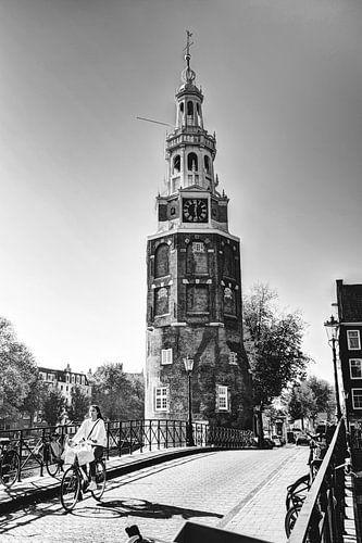 Binnenstad van Amsterdam Nederland Zwart-Wit