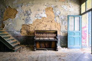 Verlaten Piano in Verval.