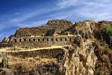 Ollantaytambo archeologische site Peru van Yvonne Smits