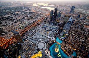 Dubai Mall van bovenaf