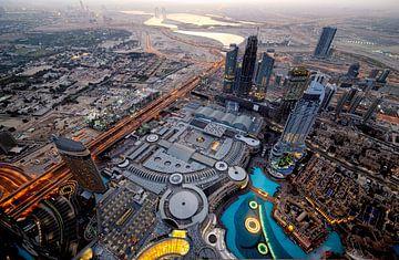 Dubai Mall van bovenaf van