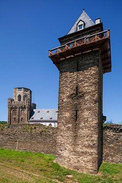 Martinuskerk Historische stadsmuur, Oberwesel, Unesco-werelderfgoed Obermittelrhein-dal, Rijnland-Pa van Torsten Krüger