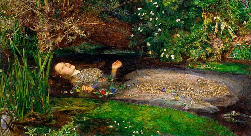 Ophelia, John Everett Millais van Meesterlijcke Meesters