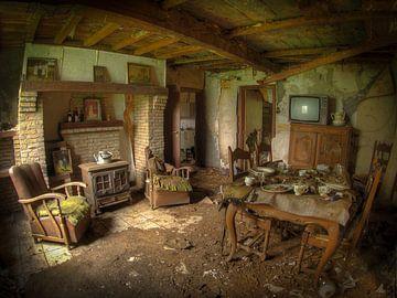 Een verlaten huisje. von Jan Plukkel